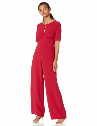 Adrianna Papell Women's Cameron Woven Seamed Jumpsuit