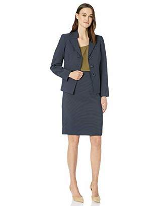 Le Suit Women's 3 Button Pique Skirt Suit