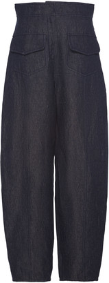 Martin Grant High-Rise Linen Straight-Leg Pants