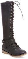 Mossimo Women's Magda Lace Up with Full Zip Tall Boots
