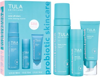 Tula Acne All-Stars Acne Clearing Routine Kit