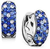 Effy Saph Splash by Shades Of Sapphire Hoop Earrings (2-3/4 ct. t.w.) in Sterling Silver