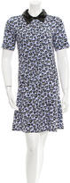 Sandro Embellished Printed Dress w/ Tags