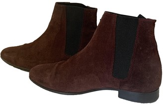 The Kooples Fall Winter 2019 Burgundy Leather Boots
