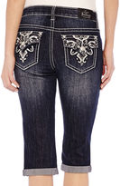 LOVE NATION ZCO Bling Cross with Flap Cropped Jeans - Petite