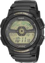 Casio Men's Core AE1100W-1BV Black Rubber Quartz Watch with Digital Dial