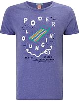 Scotch & Soda Power Lounging T-shirt, Purple Stone Melange