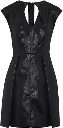 Halston Cutout Metallic Ponte Mini Dress