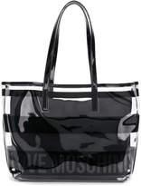 Love Moschino clear logo shoulder bag