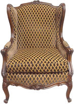 One Kings Lane Vintage Carved Wingback Chair