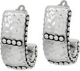Simon Sebbag Sterling Electroform Hammered HoopClip Earrings