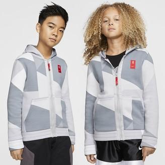 Nike Big Kids' Full-Zip Fleece Basketball Hoodie Kyrie