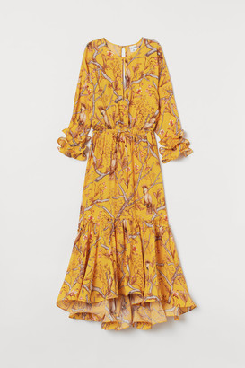 H&M Creped Maxi Dress - Yellow