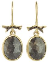 Annette Ferdinandsen Dark Grey Rustic Diamond Drop Earrings