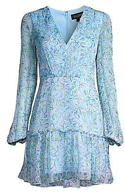 Saloni Women's Devon Silk Mini Dress - Size 0