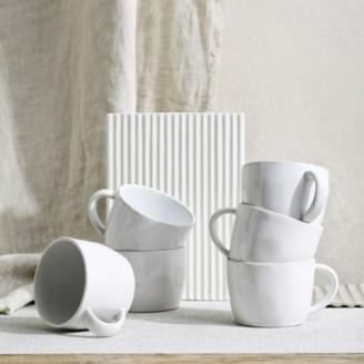 The White Company Portobello White Mug - Set of 6, White, One Size