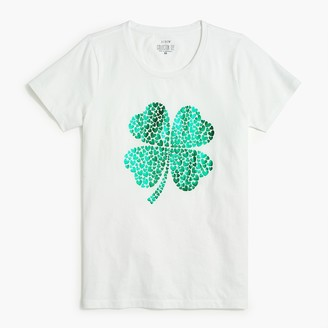 J.Crew Shamrock graphic tee