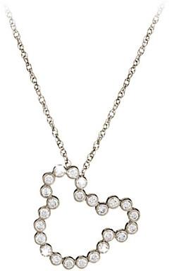 Disney Diamond Mickey Mouse Silhouette Necklace - 18K Gold