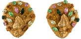 Dominique Aurientis Crystal Seashell Earrings