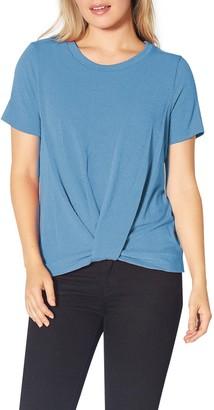 Pleione Twist Front Short Sleeve T-Shirt