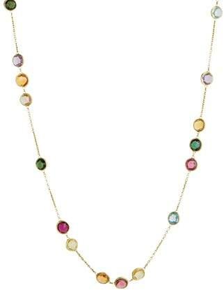 "Marco Bicego 18K Gold Jaipur Mixed Stone Necklace, 36"""