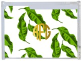 Leaves Recipe Box with Gold Monogram