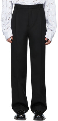 Botter Black Classic Wool Trousers