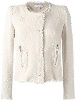IRO collarless cropped jacket - women - Cotton - 38