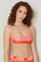 Billabong Tanline Striped Bralette Bikini Top Pink Multi M