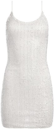 Alice + Olivia Nelle Sequin Fitted Mini Dress