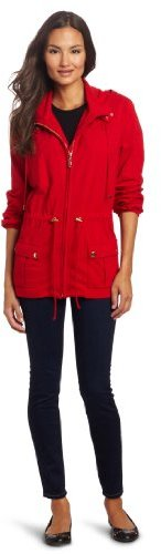 Chaus Women's Hooded Zip Front Utility Jacket
