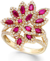 Effy Ruby Royalé by Ruby (1-3/8 ct. t.w.) and Diamond (5/8 ct. t.w.) Ring in 14k Gold