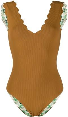 Marysia Swim Scalloped Edge Swimsuit