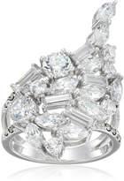 Judith Jack Sterling /Swarovski Marcasite Cubic Zirconia Cluster Ring, Size 8