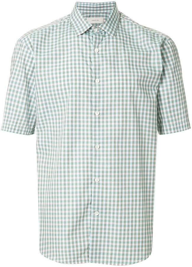 Cerruti short sleeved check shirt