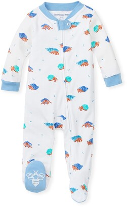 Burt's Bees Hermits Organic Baby Zip Front Loose Fit Footed Pajamas