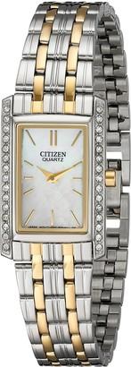 Citizen Women's Quartz Watch with Crystal Accents