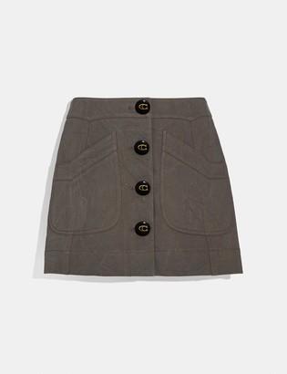 Coach Short Cargo Skirt