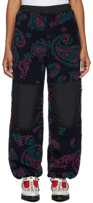 Aries Navy Fleece Paisley Lounge Pants