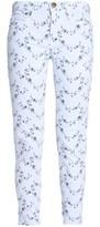 Current/Elliott Floral-Print Mid-Rise Skinny Jeans