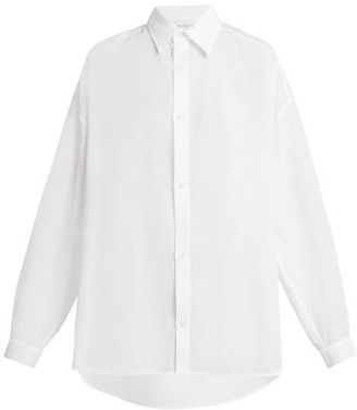 Raey Swing-back Cotton Shirt - Womens - White