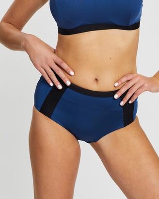 Aqua Blu Australia Graphite High Waist Bikini Pants