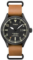Timex Heritage Waterbury Stainless Steel and Brown Leather-Strap Watch