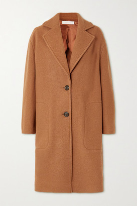 See by Chloe Wool-felt Coat - Camel
