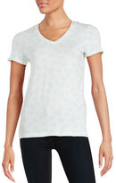 Lord & Taylor Floral V-Neck Tee