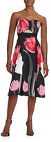 Rachel Roy Abstract Floral Midi Dress