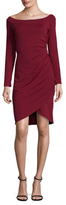 Susana Monaco Boatneck Ruched Sheath Dress