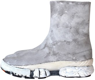 Maison Margiela Grey Leather Boots