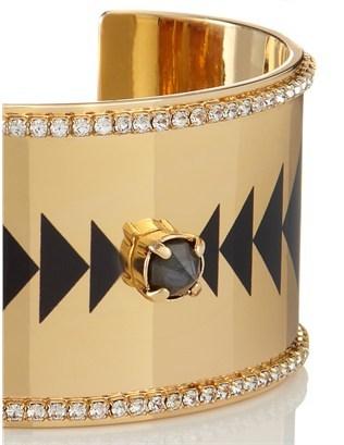 Maria Francesca Pepe Gold Swarovski Sublimation Cuff