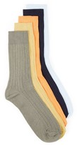 Topman Men's 5-Pack Ribbed Socks
